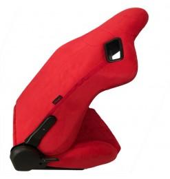 Καθίσματα Bucket R8 Suede Alcantara Κόκκινο Σετ 2 Τεμαχίων