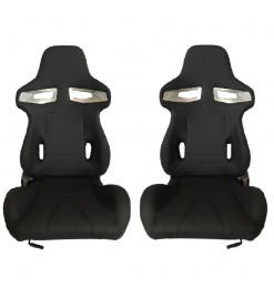 Καθίσματα Bucket GT-Sport Ύφασμα Μαύρο Σετ 2 Τεμαχίων