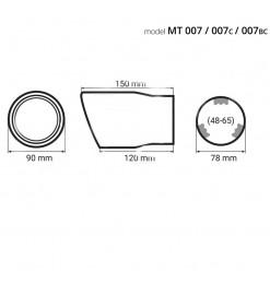 Μπούκα Εξάτμισης Titanium MT-007ΒLC Αmio 02198