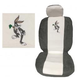 Ημικάλυμμα Μπροστινών Καθισμάτων 4 Τεμ Bugs & Lola Bunny Άσπρο/Γκρι