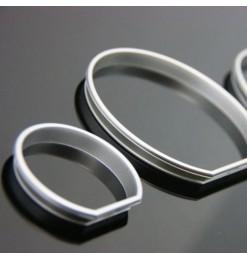 Δαχτυλίδια καντράν για BMW E36 (1991-1999) - ματ / ασημένια
