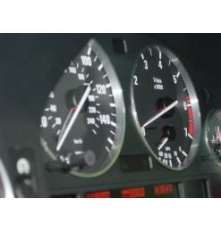 Δαχτυλίδια καντράν για BMW E39 / E38 / X5 E53 (1999-2007) - ματ / ασημένια