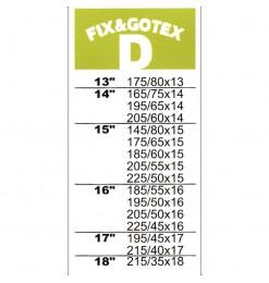 ΧΙΟΝΟΚΟΥΒΕΡΤΑ FIX&GO TEX (D) - 13164