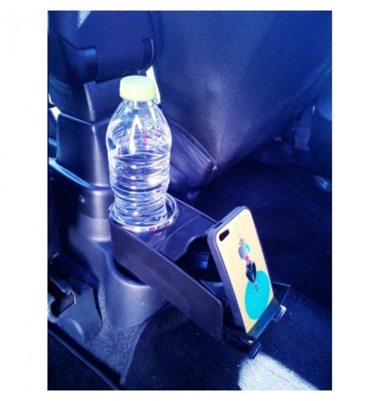 Διπλή ποτηροθήκη και θήκη κινητού αυτοκινήτου