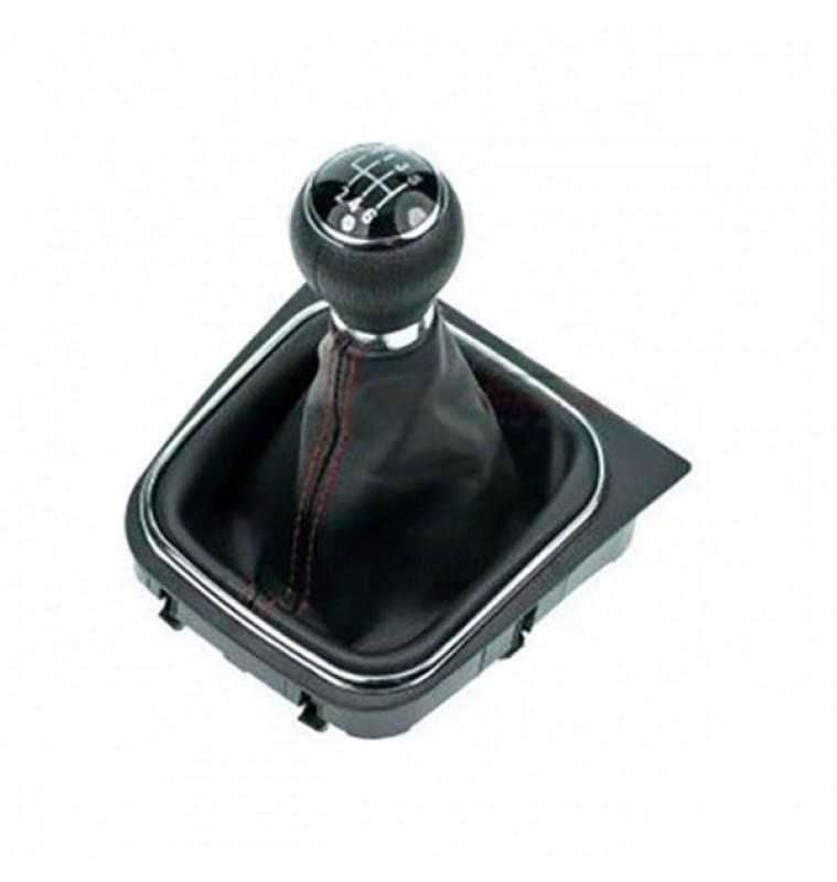 Σετ Φυσούνα λεβιέ Ταχυτήτων Με πλαίσιο και πόμολο VW Golf V & VI