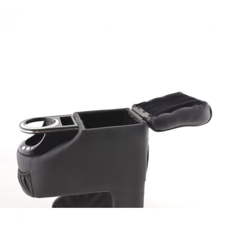 Κονσόλα χειροφρένου Universal μαύρη με ποτηροθήκη
