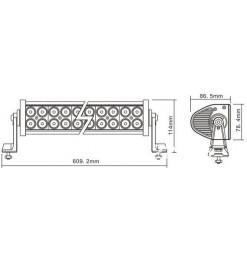 Μπάρα Φωτισμού LED 120 Watt Ψυχρό Λευκό