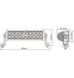 Μπάρα Φωτισμού LED 180 Watt Ψυχρό Λευκό