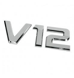 ΑΥΤΟΚΟΛΛΗΤΟ ΜΕΤΑΛΛΙΚΟ 3D ΣΗΜΑ V12