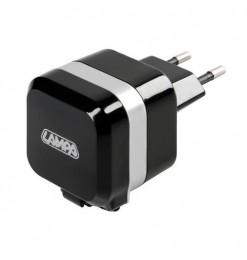 ΠΡΙΖΑ 230V 12 ΜΕ 1 USB ΚΑΙ ΚΑΛΩΔΙΟ ΦΟΡΤΙΣΗΣ MICRO USB 90cm 2400mA FAST CHARGER