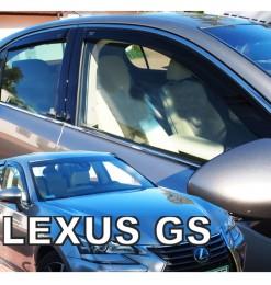 LEXUS GS IV 250 4D 2012+ ΣΕΤ ΑΝΕΜΟΘΡΑΥΣΤΕΣ ΑΥΤΟΚΙΝΗΤΟΥ ΑΠΟ ΕΥΚΑΜΠΤΟ ΦΙΜΕ ΠΛΑΣΤΙΚΟ HEKO - 4 ΤΕΜ.