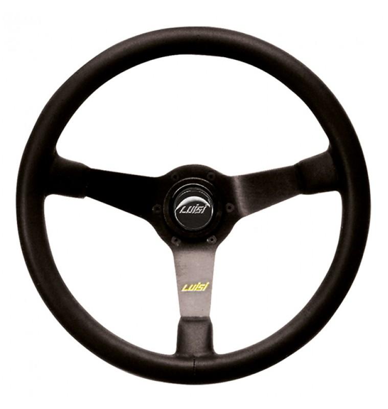 Τιμόνι MIRAGE Τριάκτινο Δερμάτινο Μαύρο LUISI