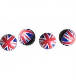 ΚΑΠΑΚΙΑ ΒΑΛΒΙΔΩΝ UK FLAG ΣΗΜΑΙΑ ΑΓΓΛΙΑΣ 4ΤΕΜ.