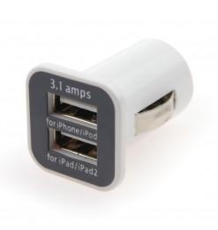 Amio ΦΟΡΤΙΣΤΗΣ ΑΝΑΠΤΗΡΑ ΜΕ 2 ΘΥΡΕΣ USB 12/24V - 3.1A (ΛΕΥΚΟΣ)