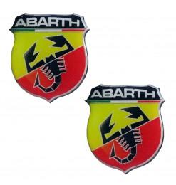 Americat ABARTH ΑΥΤΟΚΟΛΛΗΤΑ 2,5x2,2cm ΣΜΑΛΤΟΥ 2ΤΕΜ.