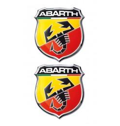 Americat ABARTH ΑΥΤΟΚΟΛΛΗΤΑ 5x5,5cm ΣΜΑΛΤΟΥ 2ΤΕΜ.