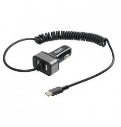 ΑΝΤΑΠΤΟΡΑΣ ΑΝΑΠΤΗΡΑ SILVER LINE 12/24V - 6000mA (2 USB & ΚΑΛΩΔΙΟ ΦΟΡΤΙΣΗΣ TYPE C) - 150 cm