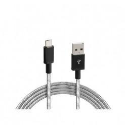 Lampa ΚΑΛΩΔΙΟ USB ΦΟΡΤΙΣΗΣ & ΣΥΓΧΡΟΝΙΣΜΟΥ IRON SILVER LINE - MICRO USB (100 cm)
