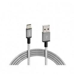 Lampa ΚΑΛΩΔΙΟ USB ΦΟΡΤΙΣΗΣ & ΣΥΓΧΡΟΝΙΣΜΟΥ IRON SILVER LINE - TYPE C (100 cm)