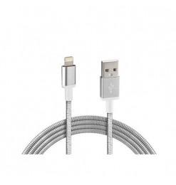 Lampa ΚΑΛΩΔΙΟ USB ΦΟΡΤΙΣΗΣ & ΣΥΓΧΡΟΝΙΣΜΟΥ IRON SILVER LINE - APPLE 8PIN (100 cm)