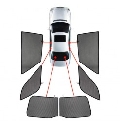 CarShades SUZUKI SX4 5D 06>13 / FIAT SEDICI 5D 06>14 ΚΟΥΡΤΙΝΑΚΙΑ ΜΑΡΚΕ CAR SHADES - 6 ΤΕΜ.