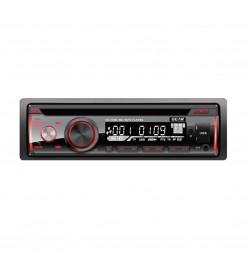 ΡΑΔΙΟ CD/FM/USB/SD/MP3/BLUETHOOTH 4x60W GEAR ΜΕ REMOTE CONTROL (ΚΟΚΚΙΝΟΣ ΦΩΤΙΣΜΟΣ)