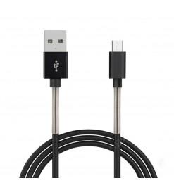 Amio ΚΑΛΩΔΙΟ ΤΑΧΕΙΑΣ ΦΟΡΤΙΣΗΣ USB ΓΙΑ MICRO USB 2,4A 100cm