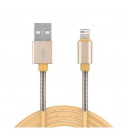 Amio ΚΑΛΩΔΙΟ ΦΟΡΤΙΣΗΣ & ΣΥΓΧΡΟΝΙΣΜΟΥ 2,4A 100cm USB - APPLE LIGHTNING
