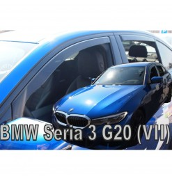 BMW 3 G20/G21 4D/5D 2019> ΣΕΤ ΑΝΕΜΟΘΡΑΥΣΤΕΣ ΑΥΤΟΚΙΝΗΤΟΥ ΑΠΟ ΕΥΚΑΜΠΤΟ ΦΙΜΕ ΠΛΑΣΤΙΚΟ HEKO - 4 ΤΕΜ.
