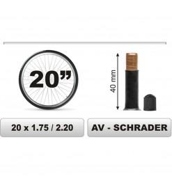 ΣΑΜΠΡΕΛΑ ΠΟΔΗΛΑΤΟΥ 20χ1.75/2.20 ΜΕΓΑΛΗ ΒΑΛΒΙΔΑ (40mm)