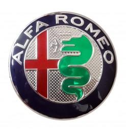 ALFA ROMEO ΣΗΜΑ ΚΑΠΩ 3D ΑΥΤΟΚΟΛΛΗΤΟ 7,4 cm ΜΠΛΕ/ΧΡΩΜΙΟ (ΠΛΑΣΤΙΚΟ) - 1 ΤΕΜ.