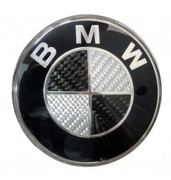 BMW ΣΗΜΑ ΚΑΠΩ ΚΟΥΜΠΩΤΟ 8,2 cm ΜΑΥΡΟ/ΧΡΩΜΙΟ/CARBON (ΜΕΤΑΛΛΙΚΟ) orig. 51148132375 - 1 ΤΕΜ.