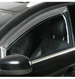 VW CADDY 2D 1995-2003 DARK PROFI (ΕΜΠΡΟΣ) ΑΝΕΜΟΘΡΑΥΣΤΕΣ ΠΑΡΑΘΥΡΩΝ ΣΚΟΥΡΟ ΦΙΜΕ ΠΛΑΣΤΙΚΟ CLIMAIR - 2 ΤΕΜ.