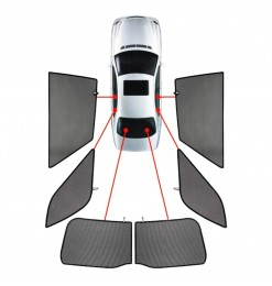 JEEP CHEROKEE (KL) 5D 2013+  ΚΟΥΡΤΙΝΑΚΙΑ ΜΑΡΚΕ CAR SHADES - 6 ΤΕΜ.